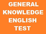 GENERAL KNOWLEDGE ENGLISH TEST BANNER. O