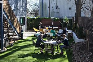 East Austin Outdoor Workspace