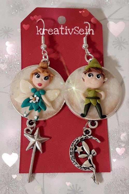 Tinkerbell und Peter Pan Ohrringe