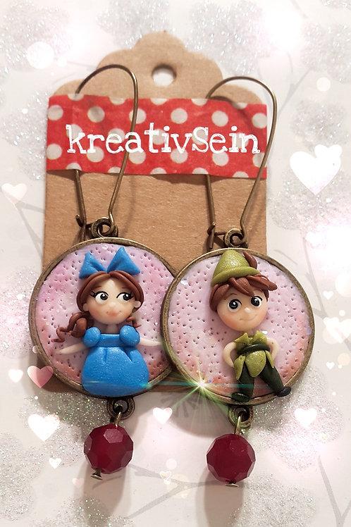 Wendy und Peter Pan Ohrringe