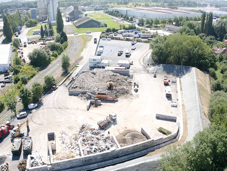 Fin des travaux d'aménagement sur le site Recynov de Santes.