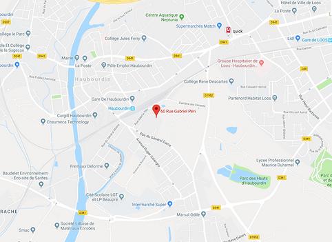 cartographie haubourdin 59320 métropole matériaux