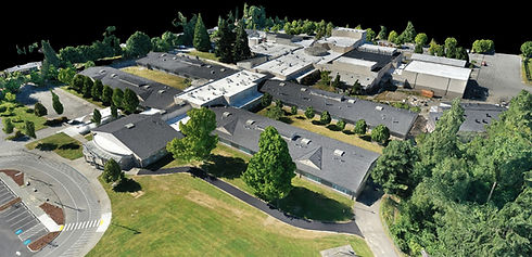3D model of school buildings and property.
