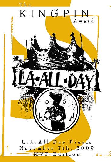 L.A. All Day Kingpin Award Poster (MVP)