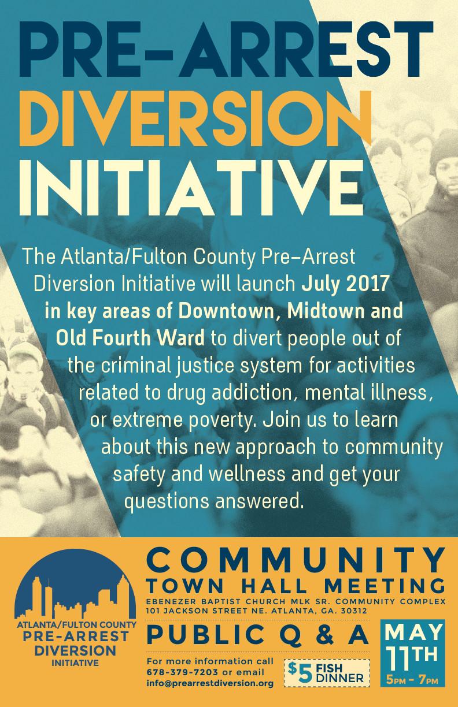 Pre-Arrest Diversion Initiative poster