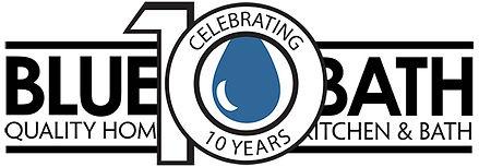 Blue Bath 10 year anniversary logo