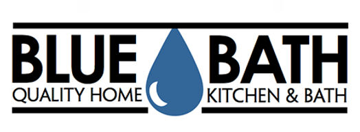 Blue Bath logo with horizontal and vertical variations