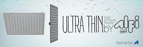 Alfi Brand Ultra Thin Rain Shower Heads web banner