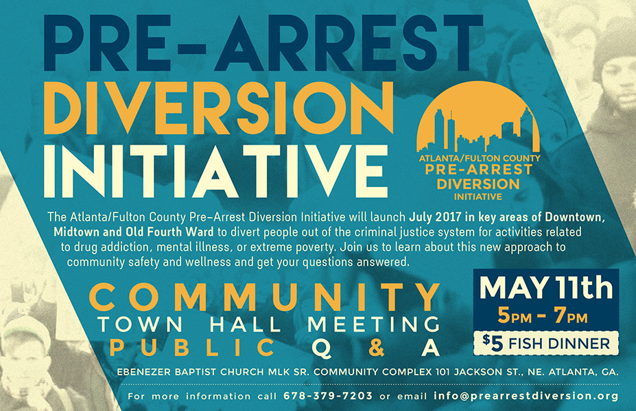 Pre-Arrest Diversion Initiative postcard