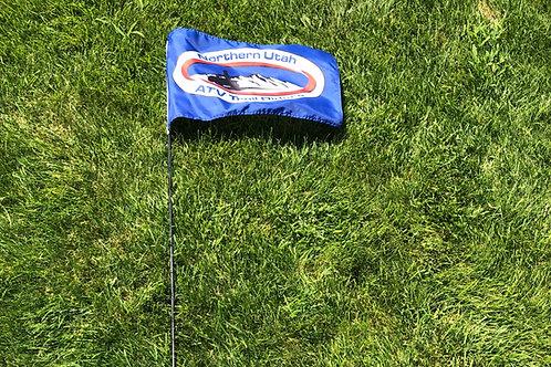 Blue Flag with Pole