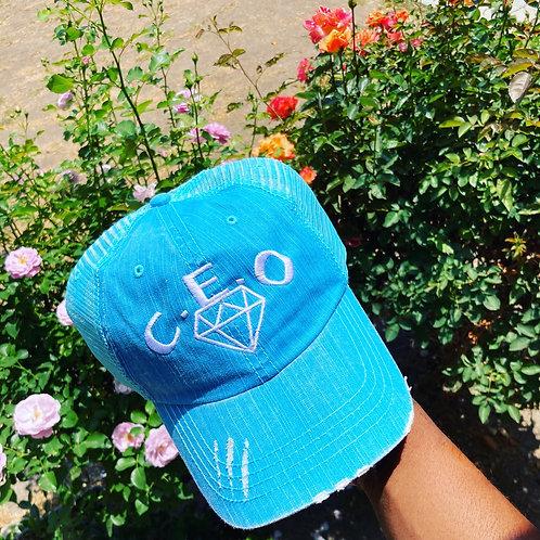 Turquoise jean hat (ladies)