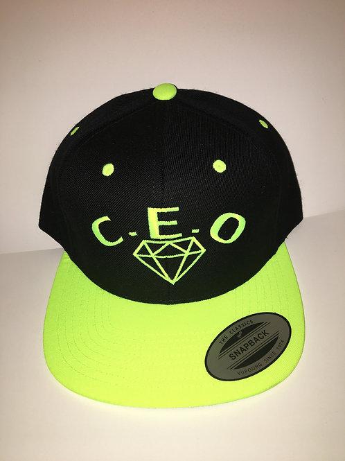 Fluorescent green & black SnapBack