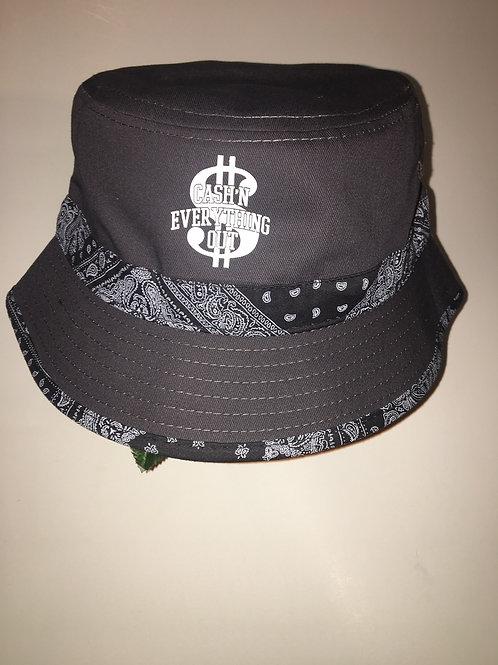 Gray bucket hat