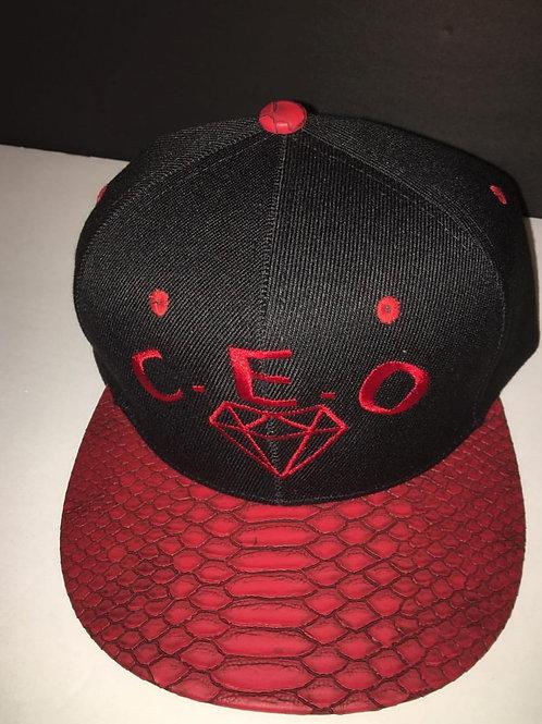 C.E.O. snakeskin hat