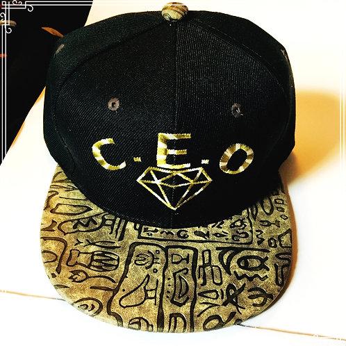 C.E.O multi color tribal diamond logo