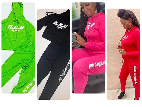 Ladies joggers 2pc set