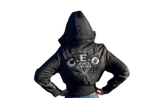 C.E.O apparel puffer ladies coat