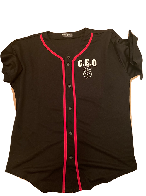 c.e.o baseball jersey w/money bags