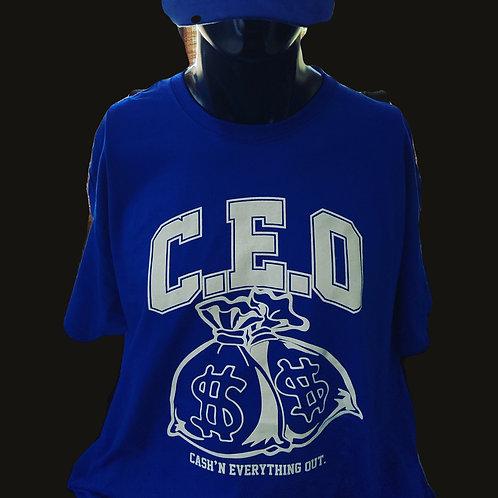 College bold print royal blue