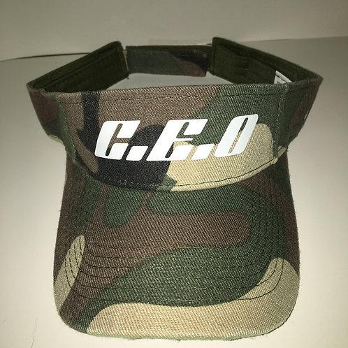 Camouflage visor hat