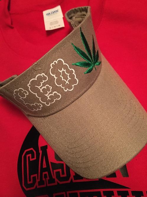 420 smoke cloud tan visor hat