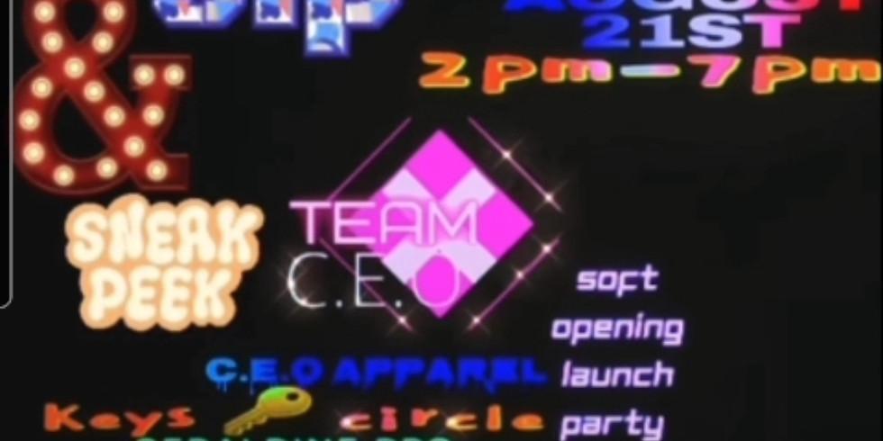 C.E.O Apparel Showroom Sip & Shop soft launch party