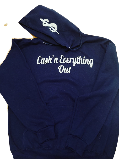 Cursive cash'n everything out