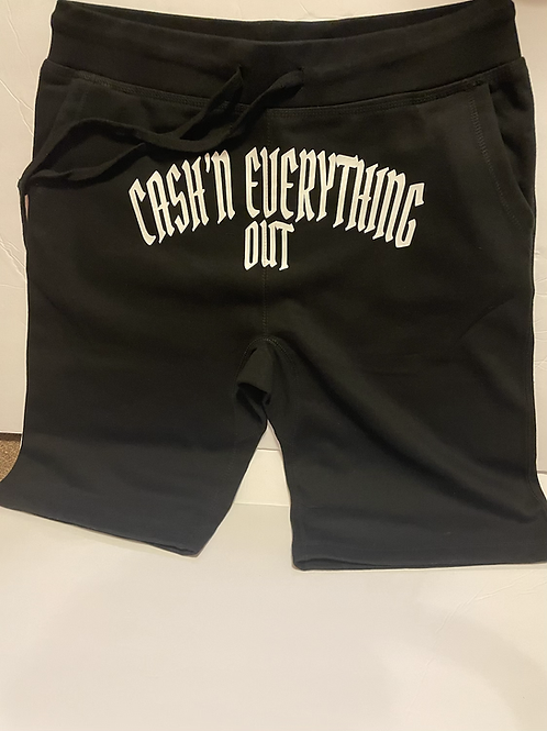 Ca$h'n everything out jogger shorts