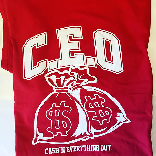 Cash'n everything out (College bold print)