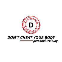 Don't Cheat Your Body Logo Design WHITE