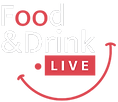 Food and drink live, logo, team building online, chefs en visio, box à domicile
