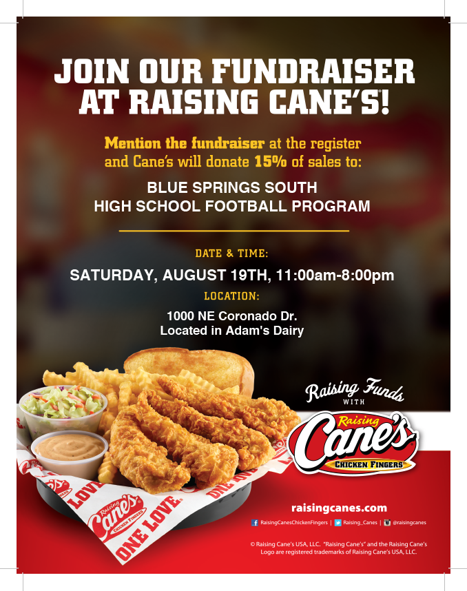 Raising Cane's 8/19 Fundraiser