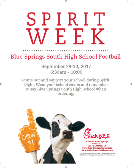 Spirit Weekend with Chick-Fil-A