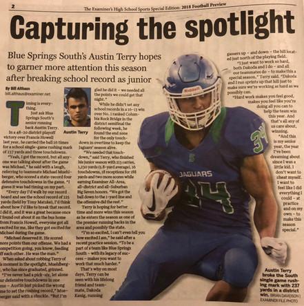 Player Spotlight - Austin Terry #34