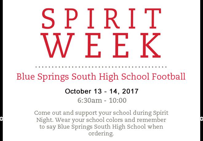 Oct Spirit Week