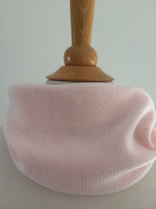 Blush Hand Crafted Snood in 100% Merino Wool