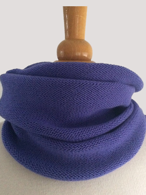 Periwinkle Hand Crafted Snood in 100% Merino Wool