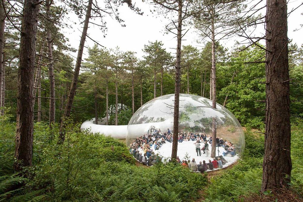 Loud Shadows Temporary Bubble Pavilion in Amsterdam by Plastique Fantastique
