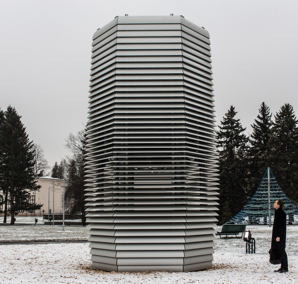 'Smog Free Tower', by Studio Roosegaarde, Kraków, Poland