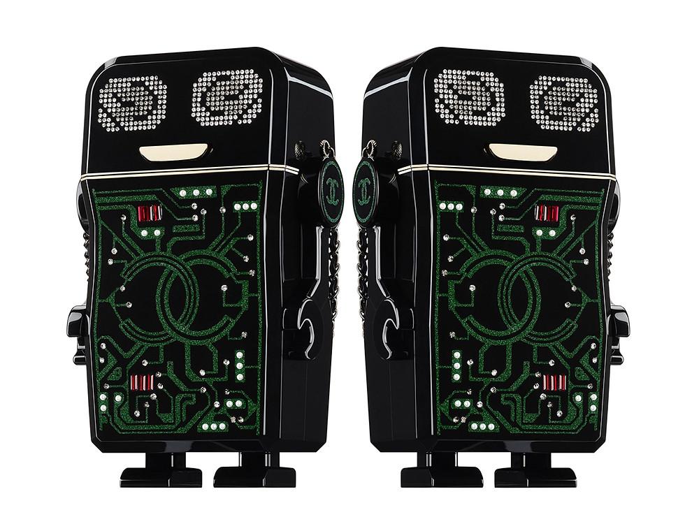 Chanel S/S17 Black Resin Robot Minaudière