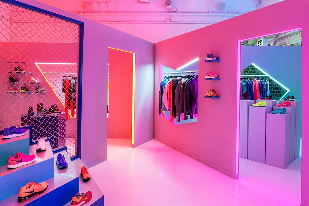 Nike Womenswear Pop-Up in NYC by Robert Storey Studio