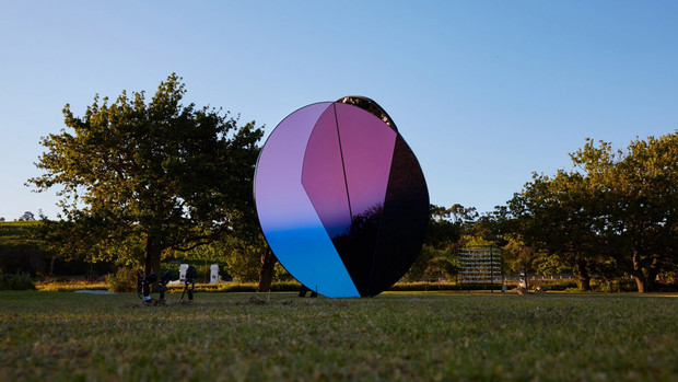 Folded Skies installation mimics the light created by Johannesburg's mine dust