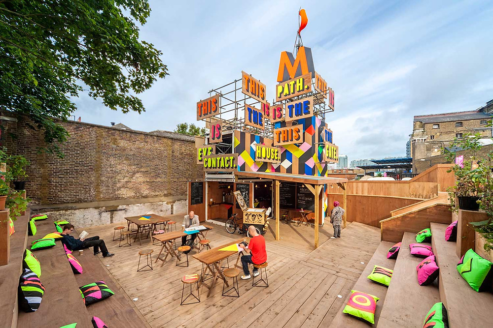 The Movement Cafe in London by Morag Myerscough