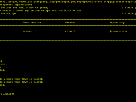 Install PostgreSQL 13 using yum/dnf in redhat linux 8