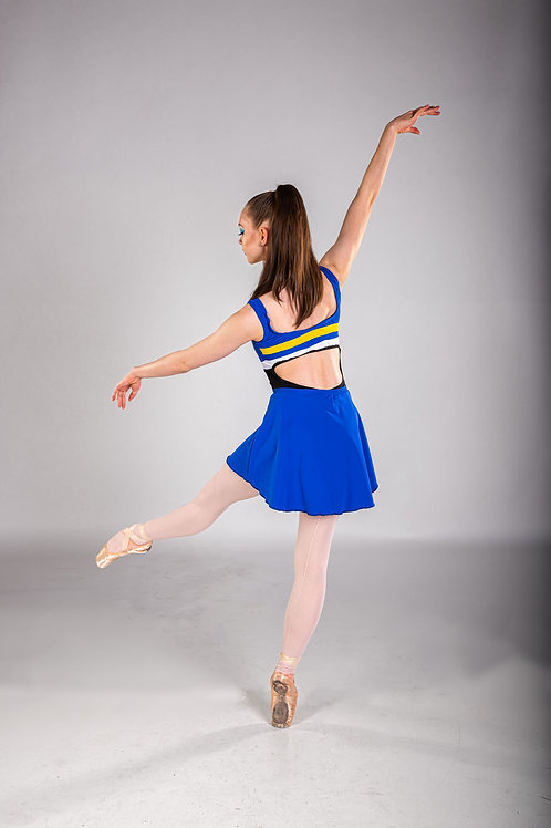 Cobalt Blue Classic Solid Skirt