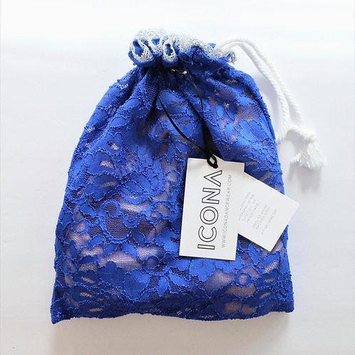 Cobalt Blue Pointe Shoe Bag