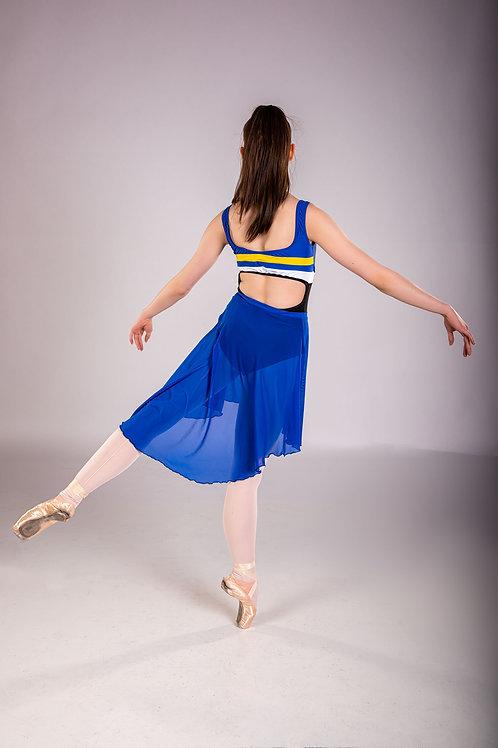 Cobalt Blue Mesh Rehearsal Skirt