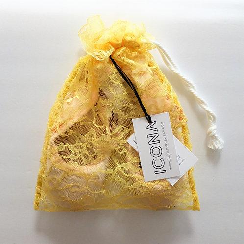 Golden Yellow Pointe Shoe Bag