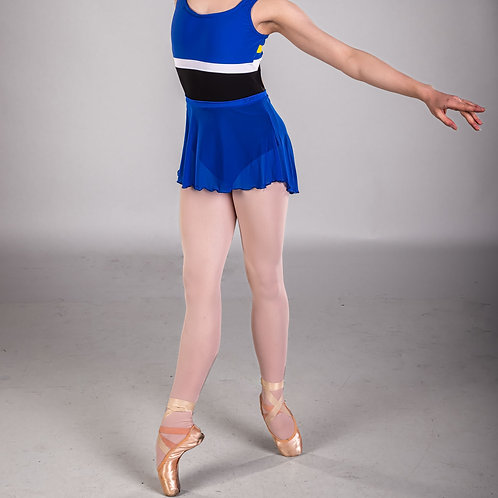 Cobalt Blue Classic Mesh Skirt