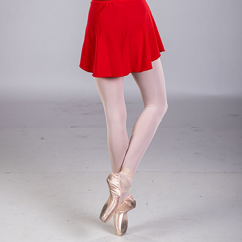 Rouge Red Classic Solid Skirt